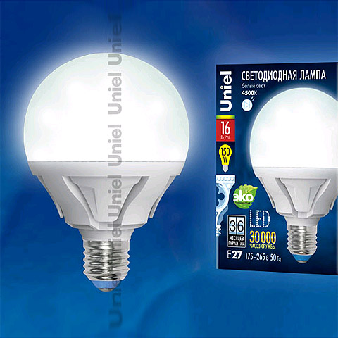 лед LED-G95-16W/NW/E27/FR PLP02WH