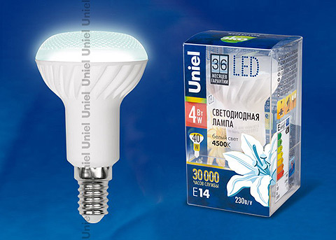 лед LED-R50-4W/NW/E14/FR CRF01WH